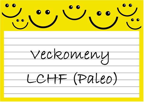 Veckomeny LCHF Paleo