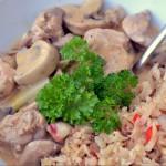 Laga Paleo – Krämig kycklinggryta med sambal oelek och rostat blomkålsris med chili och vitlök