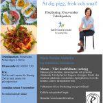Föreläsning i Gävle 10 november – Ät dig pigg, frisk och smal!